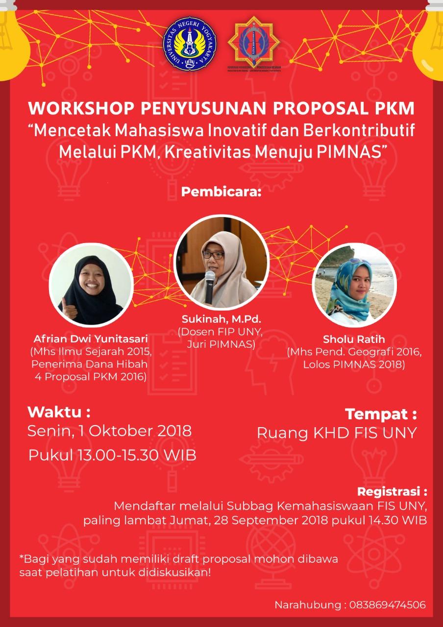 Workshop Penyusunan Proposal PKM
